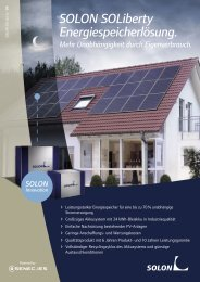 SOLON SOLiberty Energiespeicherlösung. - Photovoltaik-hornig.de