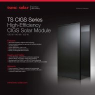 TS CIGS Series High-Efficiency CIGS Solar Module - tsmc solar