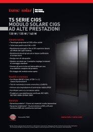 ts serie cigs modulo solare cigs ad alte prestazioni - TSMC Solar