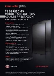 TS SERIE CIGS MODULO SOLARE CIGS AD ALTE ... - TSMC Solar
