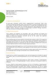 AGB´s - AxSun Solar GmbH
