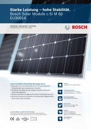 hohe Stabilität. Bosch Solar Module c-Si M 60 EU30014 - Enerix