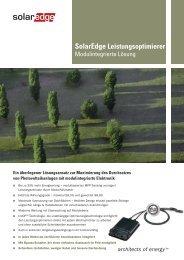 SolarEdge Leistungsoptimierer - Enerix