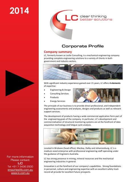 Download Corporate Profile PDF - LC Energy