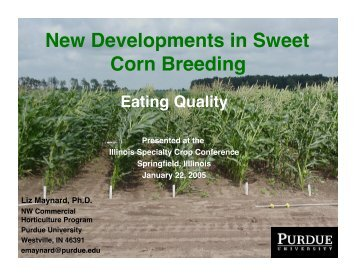 Eating Quality - Purdue University