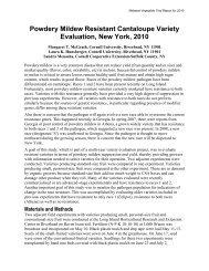 Powdery Mildew Resistant Cantaloupe Variety Evaluation, New ...