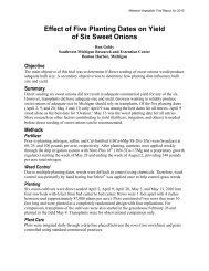Effect of Five Planting Dates on Yield of Six Sweet Onions