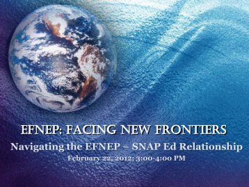 Navigating the EFNEP SNAP-Ed Relationship