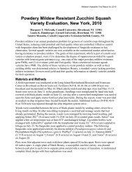 Powdery Mildew Resistant Zucchini Squash Variety Evaluation, New ...