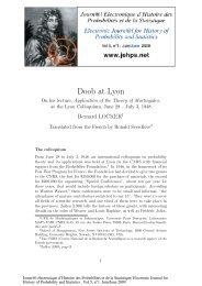 Doob at Lyon - Laboratoire de Probabilités et Modèles Aléatoires