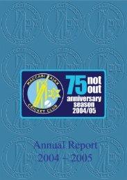 2004/05 Annual Report - Maccabi Australia