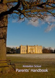 Senior School Handbook 2012-13 - Kimbolton School