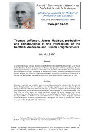 Thomas Jefferson, James Madison, probability and constitutions