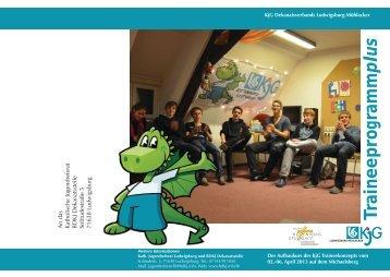 Flyer KjG Traineeprogrammplus - Katholisches Jugendreferat