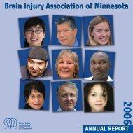 Brain Injury Association of Minnesota 2006 Annual Report