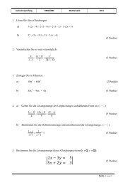 Pruefung Mathe 2011