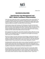 Used Nuclear Fuel Management and NRC's Waste Confidence ...