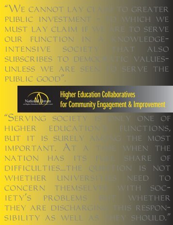 Higher Education Collaboratives for Community Engagement and ...