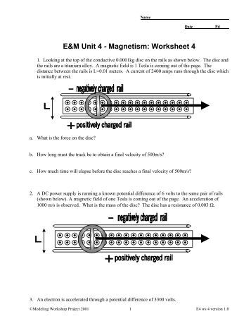 Unit 3 Worksheet 4 – Quantitative Energy Problems