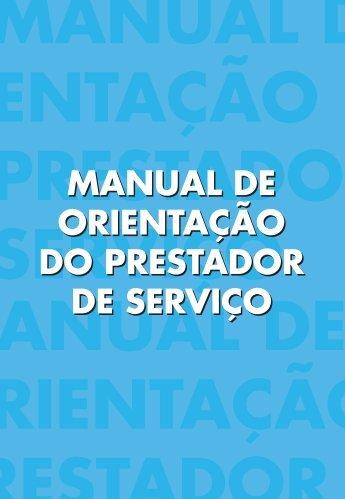MANUAL DE ORIENTAÇÃO DO PRESTADOR DE SERVIÇO ... - SAP