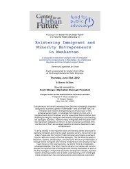 Bolstering Immigrant and Minority Entrepreneurs in Manhattan - NMIC