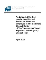 An Extended Study of Interim Lead Hazard Reduction ... - NMIC