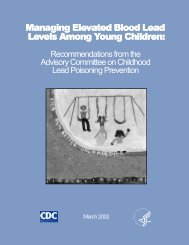 Managing Elevated Blood Lead Levels Among Young Children
