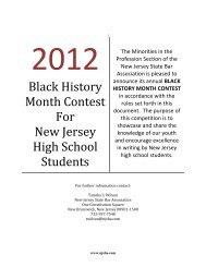 black history month contest for - New Jersey State Bar Association
