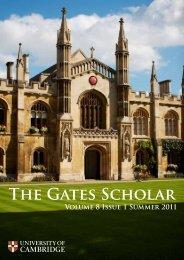 The Gates Scholar - Gates Cambridge Scholarships