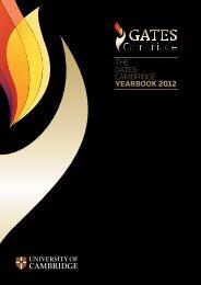 ThE GaTES CaMBridGE YEARBOOK 2012