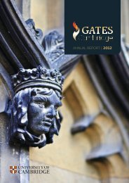 ANNUAL REPORT   2012 - Gates Cambridge Scholarships