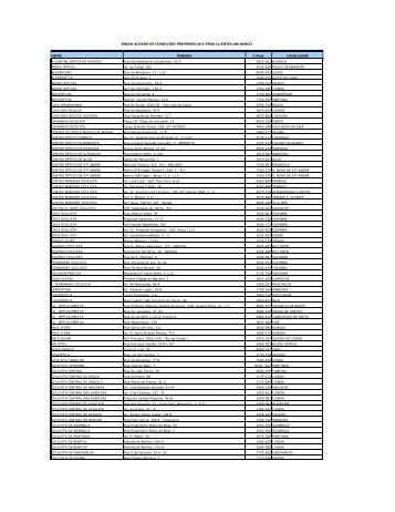 Listagem de lojas aderentes aos acordos Dez 2011.xlsx - Unibanco