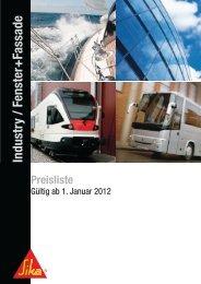 Preisliste Industry & Fenster Fassade 2012 - Global Tool Trading AG