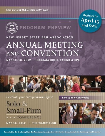 AnnuAl Meeting And Convention - New Jersey State Bar Association