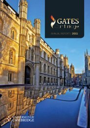 ANNUAL REPORT   2011 - Gates Cambridge Scholarships