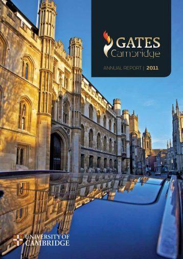 ANNUAL REPORT | 2011 - Gates Cambridge Scholarships