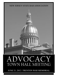 Advocacy Town Hall Meeting - New Jersey State Bar Association