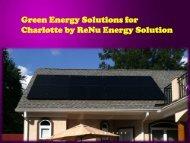 Green Energy Solutions for Charlotte