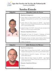 Jurados do quesito Samba-enredo - clicRBS
