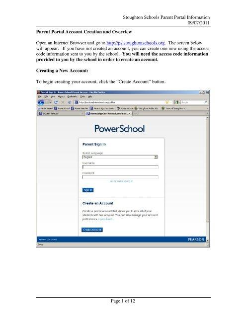 Parent Portal - Stoughton High School