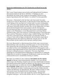 Jahresbericht Fußball Senioren 2010 - TSV Neunkirchen am Brand