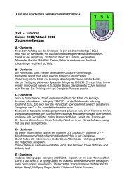 Fußball Junioren - TSV Neunkirchen am Brand