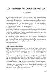 Den nationella SoM-unDerSökningen 2006 - SOM-institutet