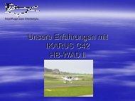 Roland Lüthi, Erfahrungen der SG Oberaargau mit C42 (PDF, 2 MB)