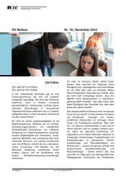 PH Notizen Nr. 70 | November 2012 - Trinational