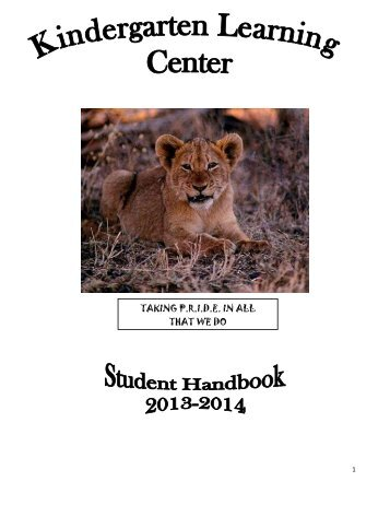KLC Student Handbook - The School Board of Highlands County
