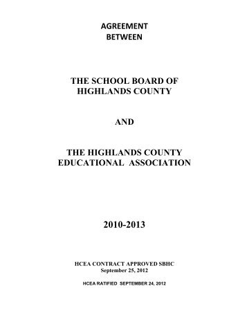 HCEA - The School Board of Highlands County