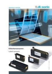 Etikettensensoren Label sensors