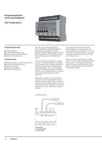 Programmierbares Universalschaltgerät PCS-T75UR/205-D