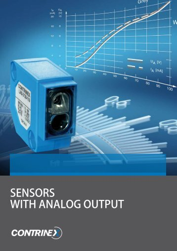 SENSORS wITH ANALOg OUTPUT